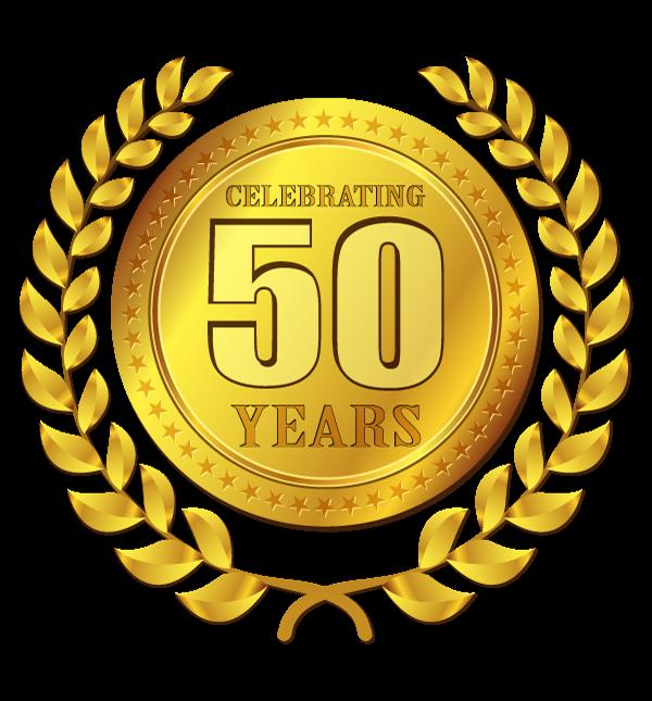 50 Years Badge