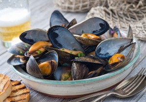 seafood provides us with a cocktail of nutrients and minerals we wouldn't normally get as a packaged deal.  Mussels are one of the greatest, healthiest bounties of the sea.